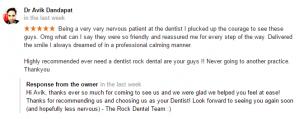 Rock Dental Google Reviews