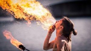 Dentist Wolverhampton Bad breath or halitosis Fire breaking man