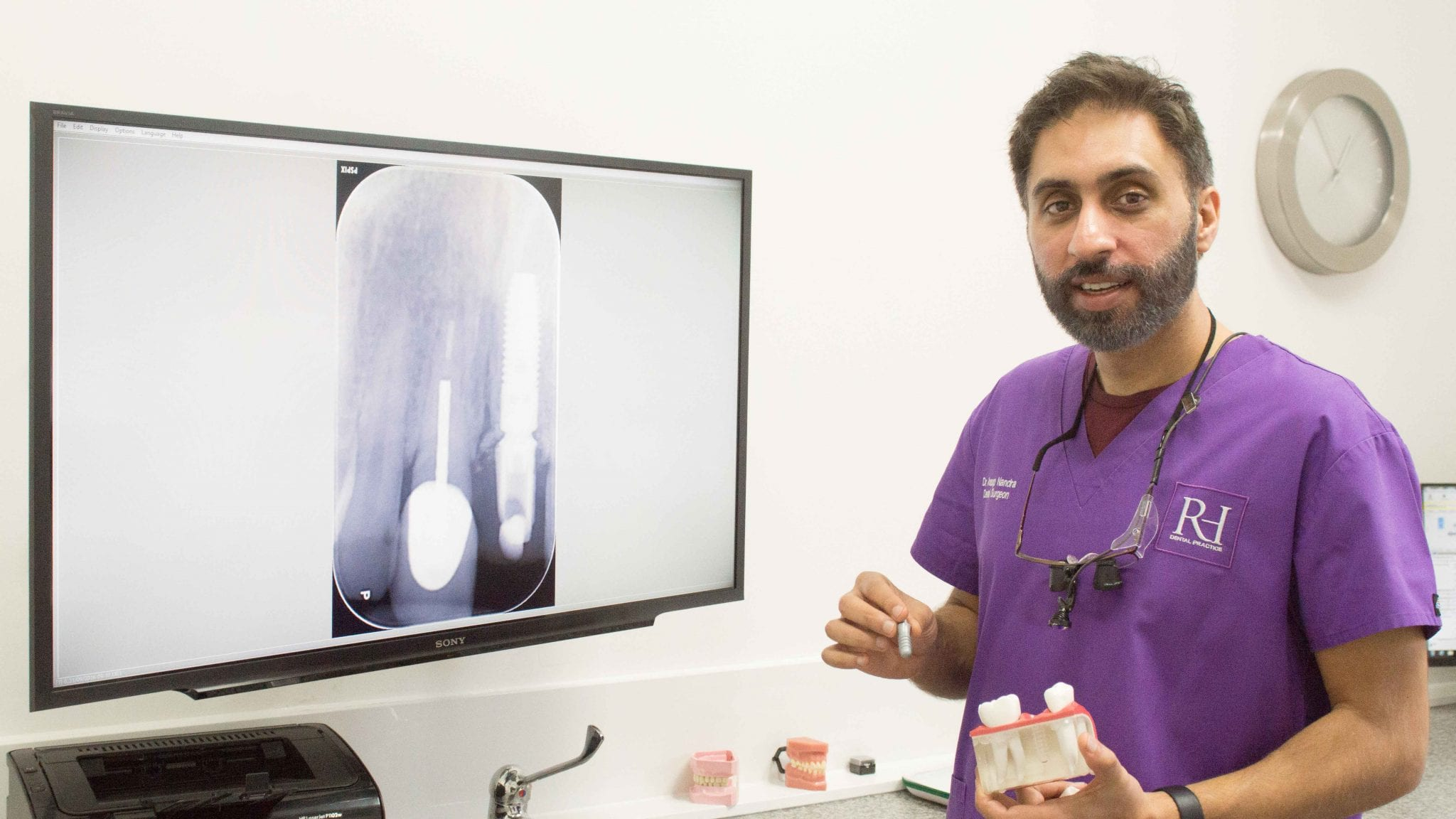 Anoup Nandra and a tooth implant