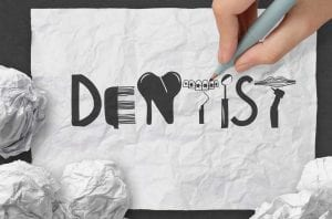 Dental Blog Banner on crumpled paper