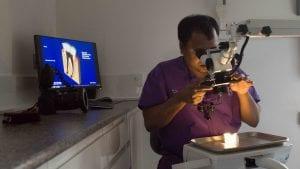 Wolverhampton Dentist Dr Kristlee Fernandes with an Endodontic Microscope 1